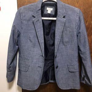 J. CREW denim-like blazer